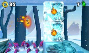 Le feu sera nécessaire pour franchir ces blocs de glace.