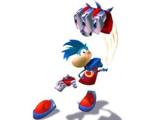 Rayman armé d'un pouvoir alternatif dans Rayman 3.