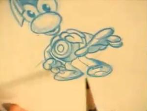 Concept de Rayman avant son démembrement.