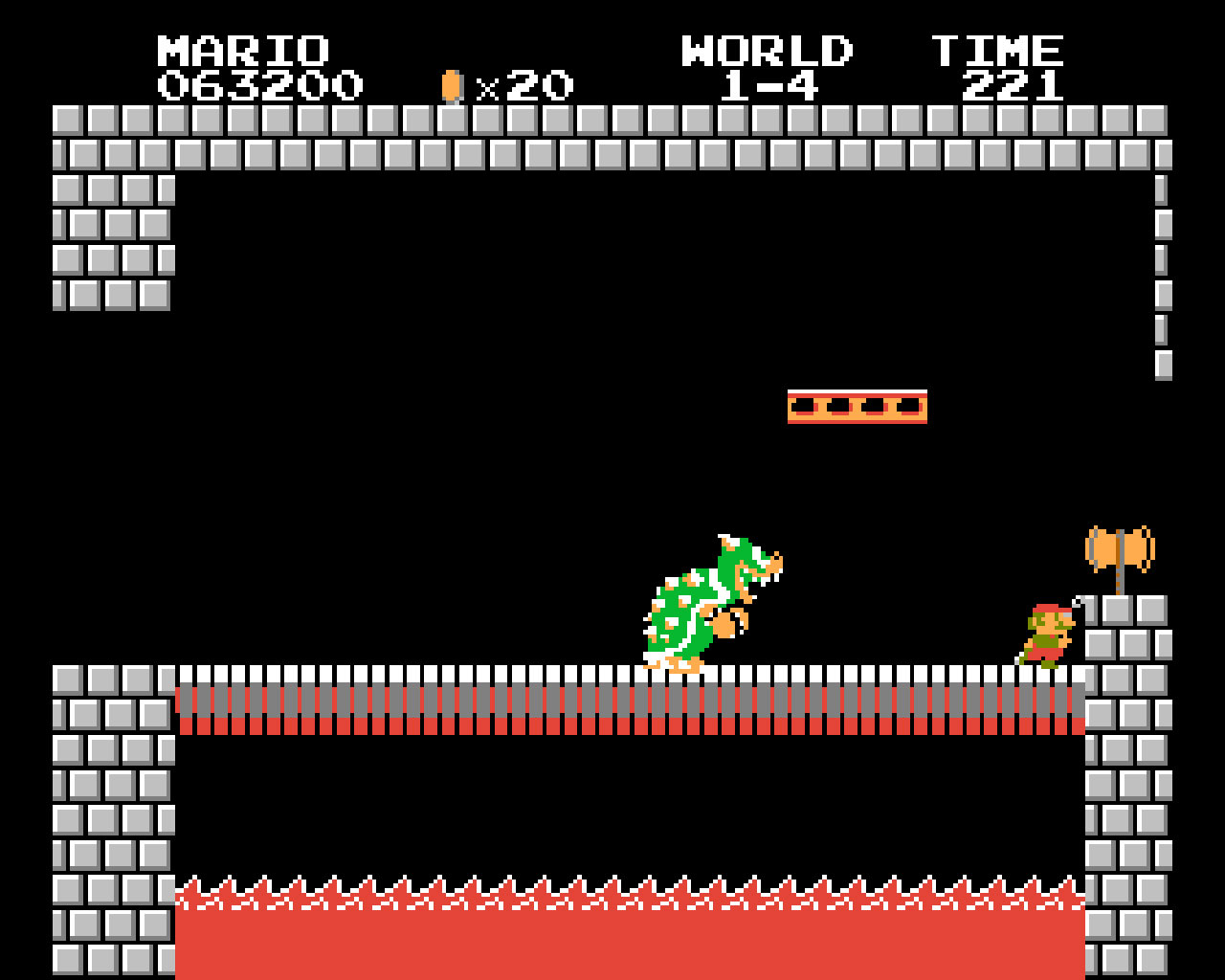 Bowser apparaît pour la première fois dans Super Mario Bros. en 1985 sur Famicom.