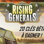 20 clés bêta à gagner pour Rising Generals