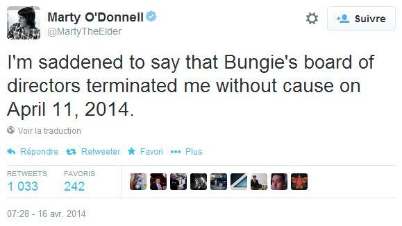 Marty O'Donnell viré par Bungie