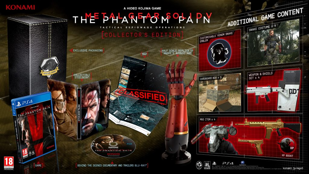 Metal Gear Solid V : The Phantom Pain, collector edition