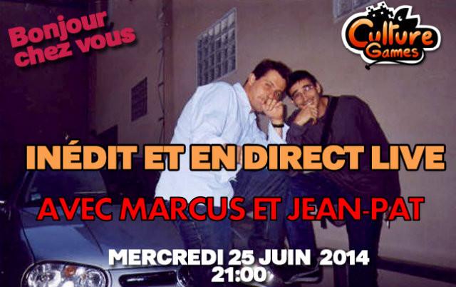 Marcus et Jean-Pat sur Culture Games