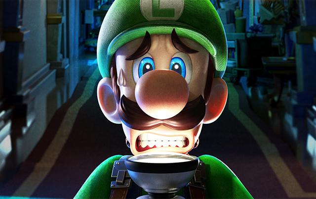 Luigi est effrayé dans Luigi's Mansion
