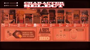 Interface de sélection des personnages.