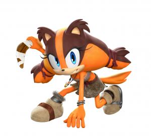 Sticks, la nouvelle amie de Sonic.