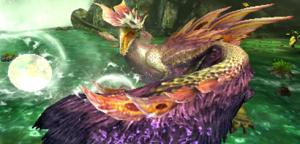 Le Mizutsune, un des 4 monstres phares de cet épisode, vous attend de patte ferme !