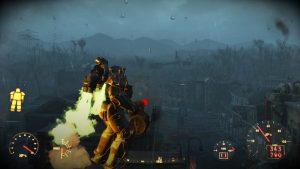 Une des nombreuses armures assistées trouvables dans le jeu. Avec un jetpack, oui oui.