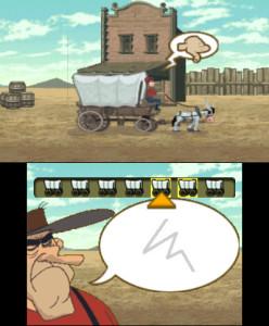 Têtes de mule : il faut reproduire les dessins pour faire avancer la caravane. Ça se passe comme ça dans le Far West...