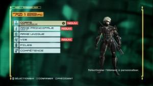 Upgrade de compétences pour Raiden