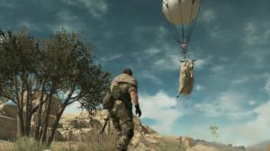 Le ballon Fulton permet de rapatrier des hommes mais aussi des animaux sur la Mother Base.