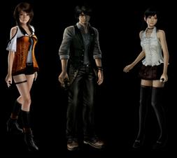 Les personnages jouables : Yuri, Ren et Miu.