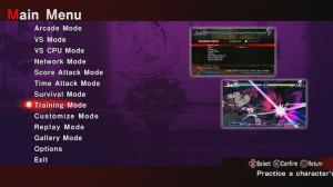 Des menus simples pour des modes de jeu trop classiques.