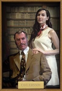 Cave Jonhson et son assistante, Caroline.
