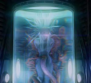 Jénova, véritable source de tous les maux de Final Fantasy VII, retenue par la Shinra