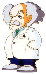 Dessin du Dr. Wily pour le premier Mega Man.