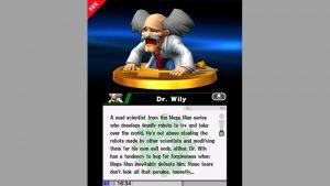 Le Trophée Dr. Wily dans Super Smash Bros. for 3DS.
