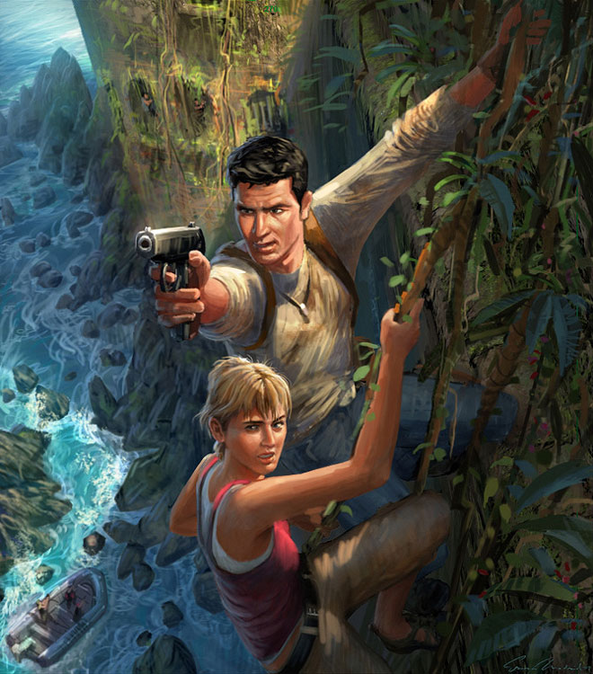 Concept art Uncharted : Drake's Fortune