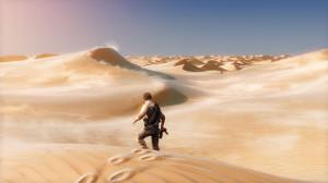 Uncharted 3 : Drake's Deception offre des paysages magnifiques.