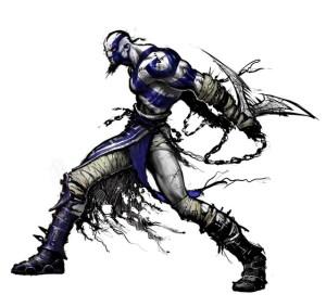 Kratos en version bleue.