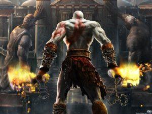 Les Lames du Chaos : les armes principales de Kratos.