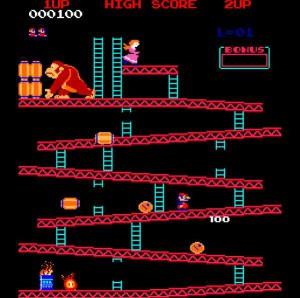 La première apparition de Mario, alors appelé Jumpman (Donkey Kong, 1981, Arcade)