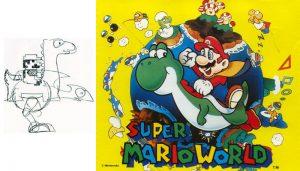 D'abord prévu sur NES, Yoshi rejoindra Mario dans Super Mario World (Super Nintendo, 1990)