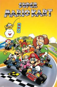 La saga Super Mario Kart démarre en 1993 sur Super Nintendo.