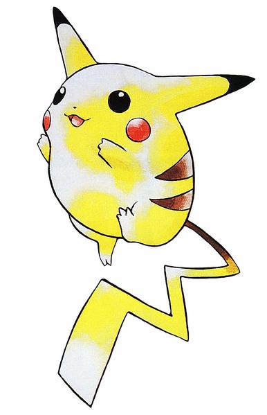 Pikachu au lancement de la version rouge et bleue sur Game Boy
