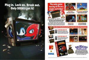 Une publicité américaine expliquant comment utiliser Sonic & Knuckles avec Sonic 2 et Sonic 3.