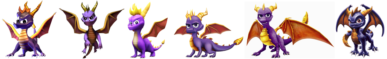 Évolutions du design de Spyro