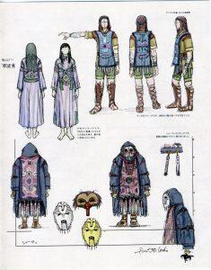 Esquisses de Mono, Wander et Emon.