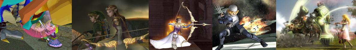 Zelda, incapable de se défendre ? Que ce soit dans Spirit Tracks, Twilight Princess, Super Smash Bros. ou encore Hyrule Warriors, elle n'hésite pas à se battre.