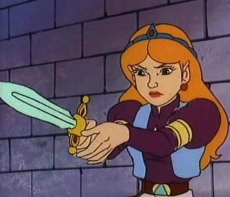 Zelda telle qu'elle apparaît dans la série animée Princesse Zelda.