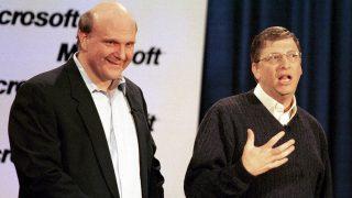 Ballmer et Gates en 2000