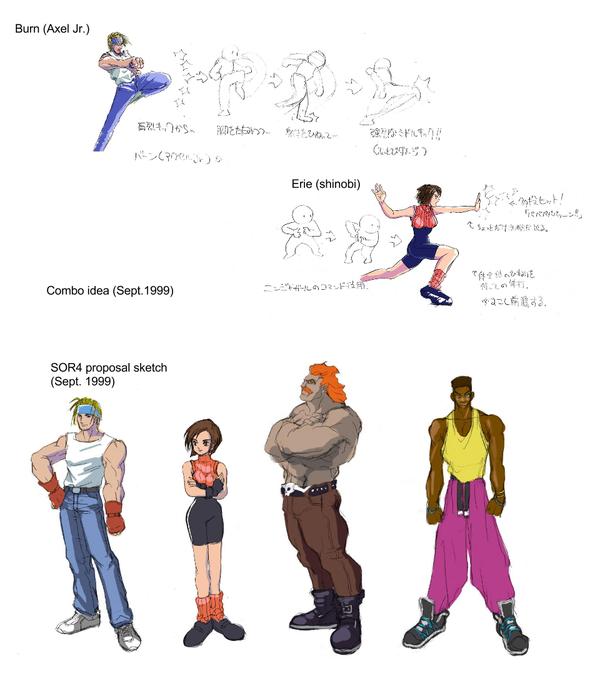 Quelques artworks réalisés par Ayano Koshiro pour Streets of Rage 4 (Dreamcast)