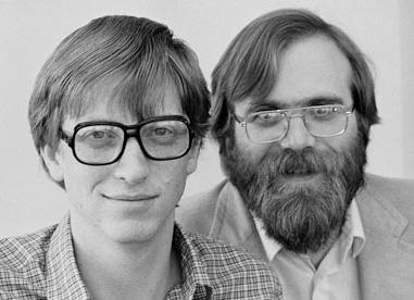 Bill Gates et Paul Allen en 1983, photographiés par Doug Wilson/Corbis