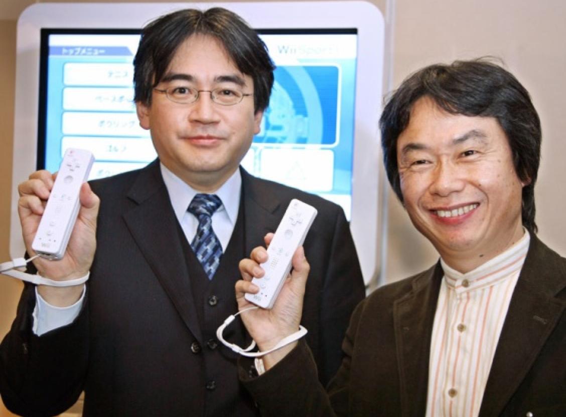 Satoru Iwata et Miyamoto