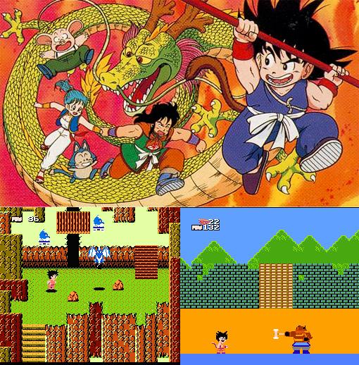 Dragon Ball : Shenron no Nazo le premier jeu issu du manga à succès de Toriyama.