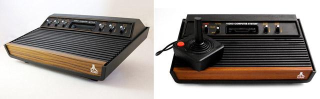 """A gauche première version sortie en 1977 avec six interrupteurs et à droite la version sortie en 1980 renommée """"S"""" avec plus que quatre interrupteurs"""