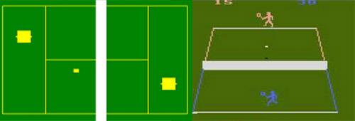Magnavox Odyssey à gauche (1972) et Atari 2600 à droite (1977).