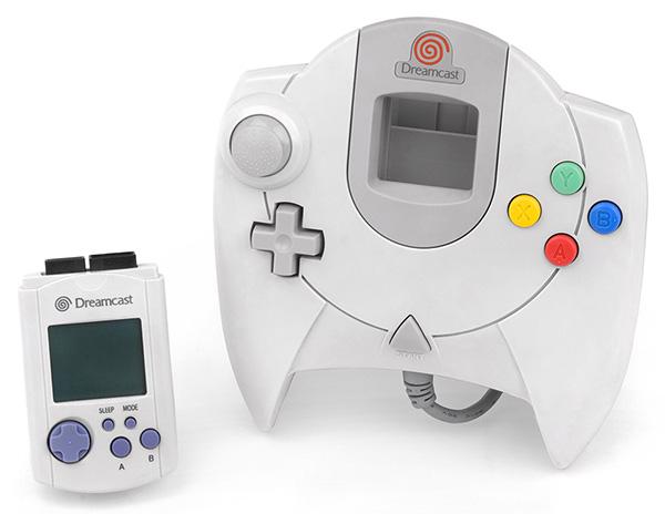 Le VMS et la manette Dreamcast.