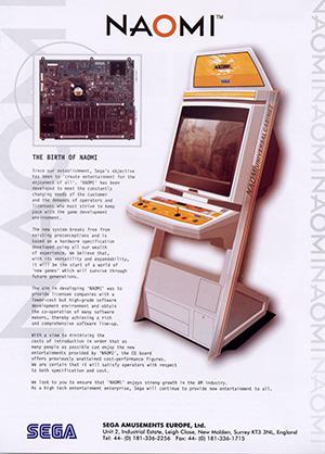 La borne d'arcade NAOMI de SEGA.