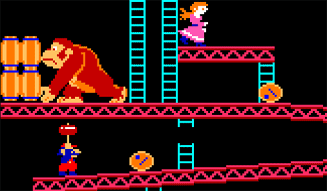 Donkey Kong sur borne d'arcade.