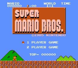 Super Mario Bros., le jeu succès de la Famicom.