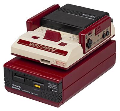 Le très populaire Famicom Disk System.