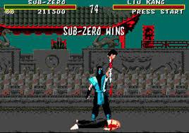 """La version Mega Drive remporte ce combat grâce à l'astuce du """"code sang""""."""