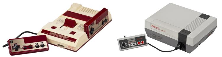 La Familiy Computer (Famicom) et la Nintendo Entertainment System (NES)