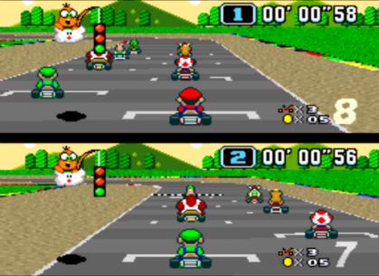 Pour inclure le mode multijoueur, la cartouche de Mario Kart contient une puce DSD.